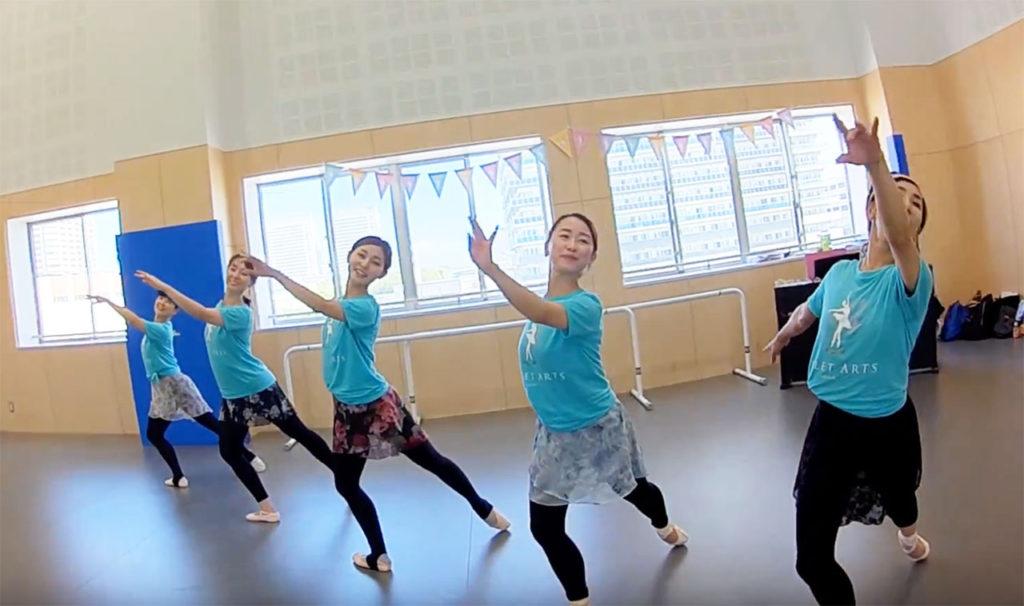 [バレエでドローン] BALLET ARTS社(セガサミースポーツアリーナ3F)